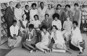 The Oscar Minor Waring School's 8th grade class of 1971.